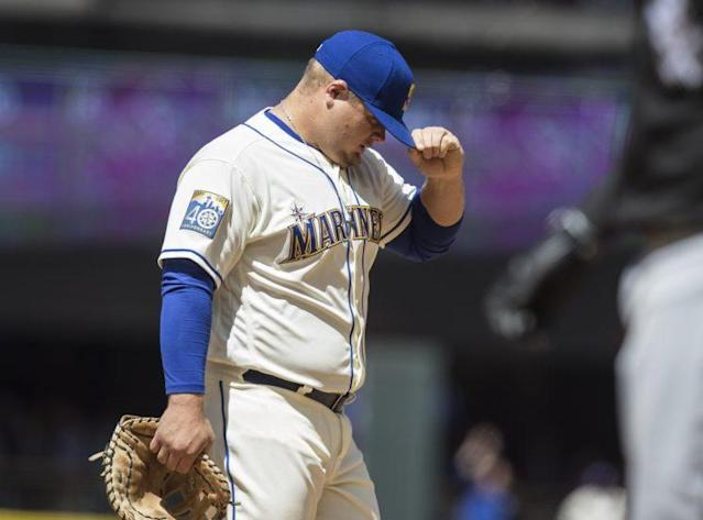 Dan Vogelbach was one of the four members of the Rainiers to take the trip. (Getty Images)