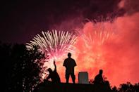 The National Mall in Washington, usually crowded with spectators ready for fireworks, was nearly deserted (AFP Photo/ROBERTO SCHMIDT)
