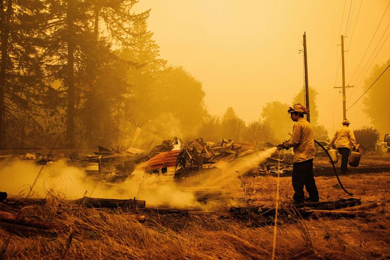 'I looked at Facebook and my town was on fire': Oregonians tell of dramatic escape from wildfire that devastated their community