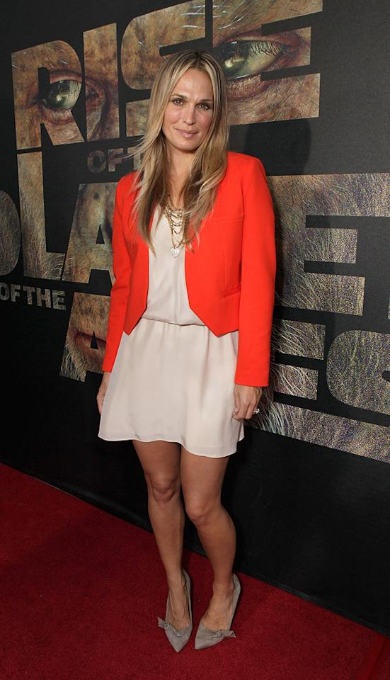"""<a href=""""http://movies.yahoo.com/movie/contributor/1804557103"""">Molly Sims</a> at the Los Angeles premiere of <a href=""""http://movies.yahoo.com/movie/1810204226/info"""">Rise of the Planet of the Apes</a> on July 28, 2011."""