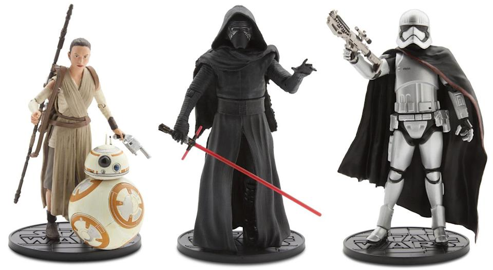 <p>These die-cast action figures are part of the 'Star Wars' Elite Series from the Disney Store.</p>