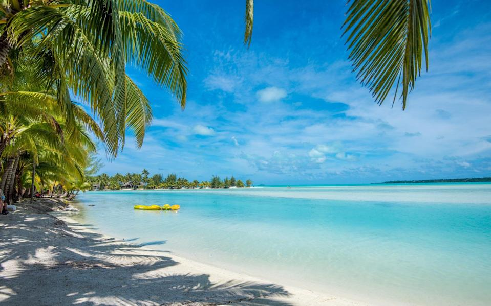 The Cook Islands are located in the South Pacific Ocean, a four-hour flight from New Zealand - Getty