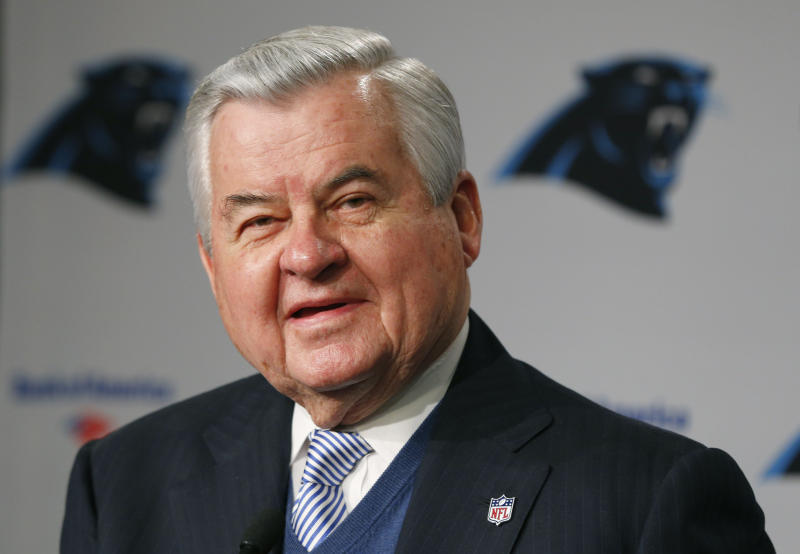 Carolina Panthers owner Jerry Richardson officially sold his team on Monday. (AP)