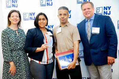 From L-R: Katy Gaul-Stigge, Goodwill NYNJ President/CEO; Jamie Pena, HomeGoods Bayside, NY Store Manager; Christian Diaz-Luna, Goodwill NYNJ Program Participant, and 2019 NDEAM Employee of the Year Award recipient; and Mike Zimmerman, Regional VP, HomeGoods, and 2019 Outstanding Employer Support Award recipient.