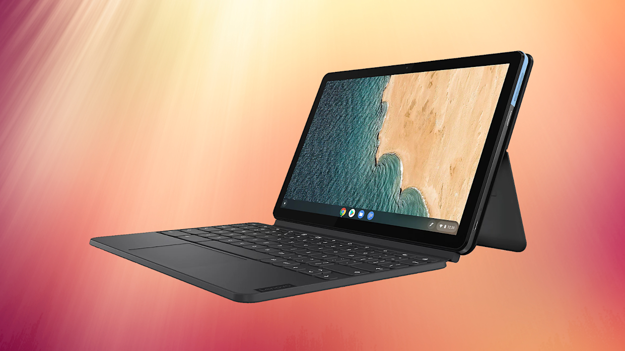 It's two computers in one! Tablet or laptop, as you please. (Photo: Best Buy)