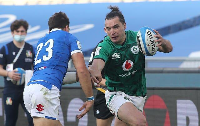 Ireland's James Lowe has been dropped for Saturday's clash with England