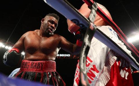 <span>Jarrell Miller has called out Anthony Joshua</span> <span>Credit: getty images </span>