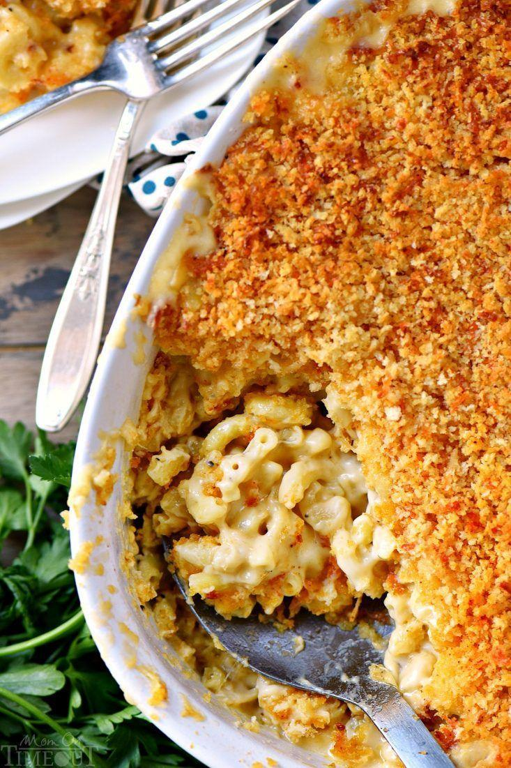 "<p>Every inch of this casserole is filled with ooey, gooey goodness. It's loaded with sharp cheddar, Gruyére, and Parmesan cheese. Yum!</p><p><strong>Get the recipe at <a href=""https://www.momontimeout.com/best-homemade-baked-mac-and-cheese-recipe/"" rel=""nofollow noopener"" target=""_blank"" data-ylk=""slk:Mom on Timeout"" class=""link rapid-noclick-resp"">Mom on Timeout</a>.</strong> </p>"
