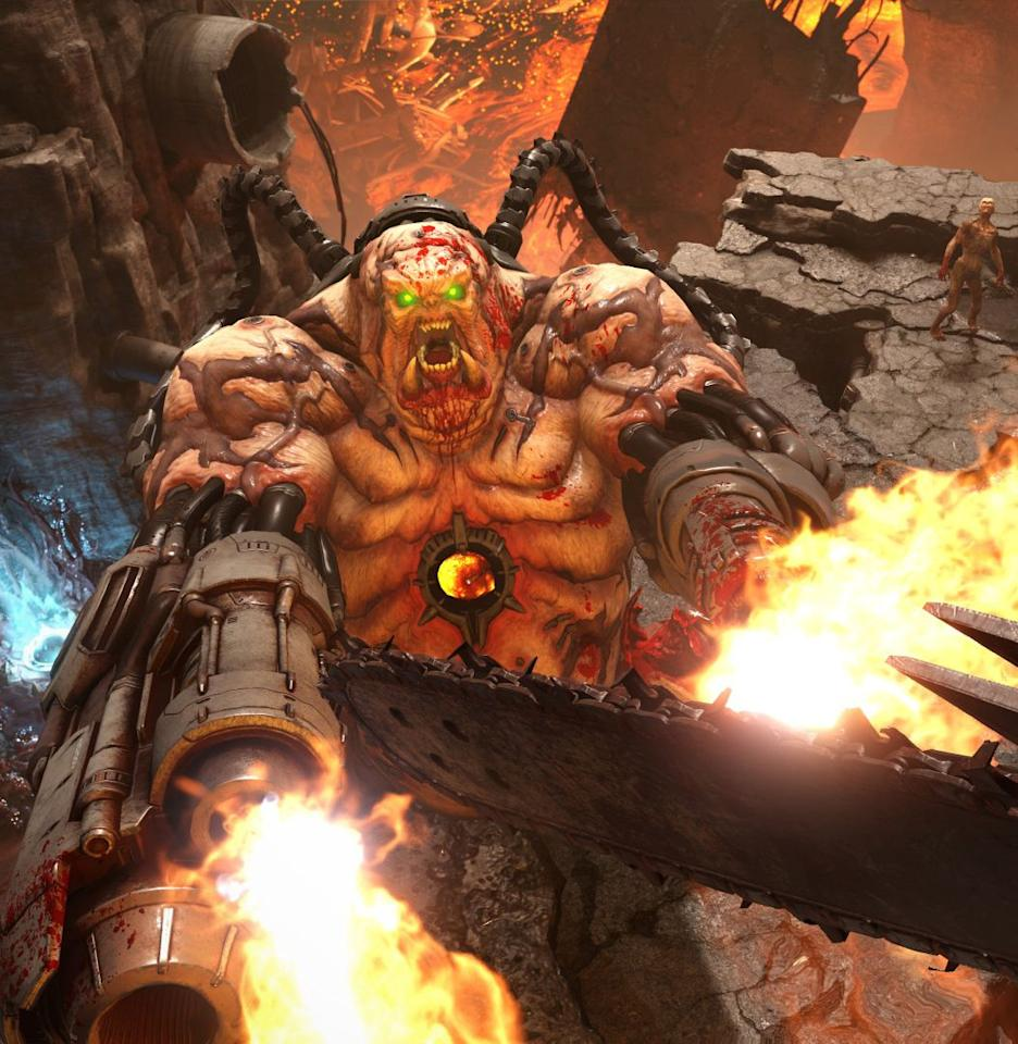 """<p><strong>Release Date:</strong> March 20, 2020<em><br><br>Doom</em>. Is. Back. Baby!! Coming in hot off the slam dunk 2016 reboot, <em>Doom Eternal</em> looks like the exact sort of hellish decapitation simulator that the doctor ordered for these supremely annoying times we live in. It's coming to all the consoles (even the Nintendo Switch!), but on the PS4 Pro, this game should play like a dream (or nightmare). <em>—D.N.</em><br></p><p><a class=""""body-btn-link"""" href=""""https://www.amazon.com/Doom-Eternal-PlayStation-4/dp/B07DJX3Y19?tag=syn-yahoo-20&ascsubtag=%5Bartid%7C10054.g.30798786%5Bsrc%7Cyahoo-us"""" target=""""_blank"""">Pre-Order</a> <em><a href=""""https://www.amazon.com/Doom-Eternal-PlayStation-4/dp/B07DJX3Y19"""" target=""""_blank"""">amazon.com</a></em></p>"""