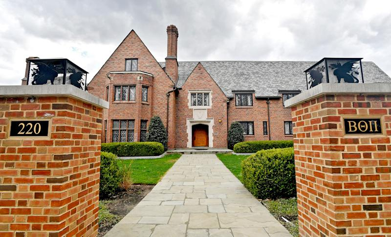 The Beta Theta Pi house at Penn State pictured on April 4