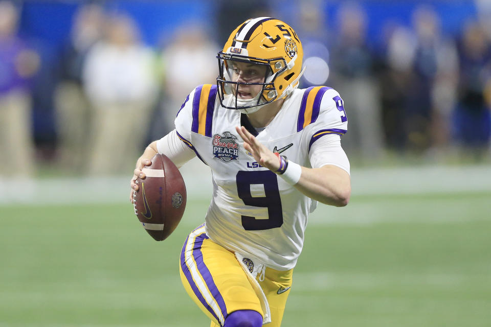 Joe Burrow was as close to flawless as it gets. (David J. Griffin/Icon Sportswire via Getty Images)