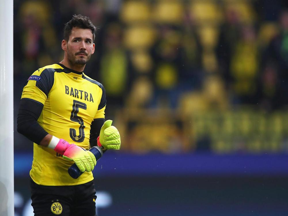Burki wore a Bartra shirt before the match against Monaco (Getty)