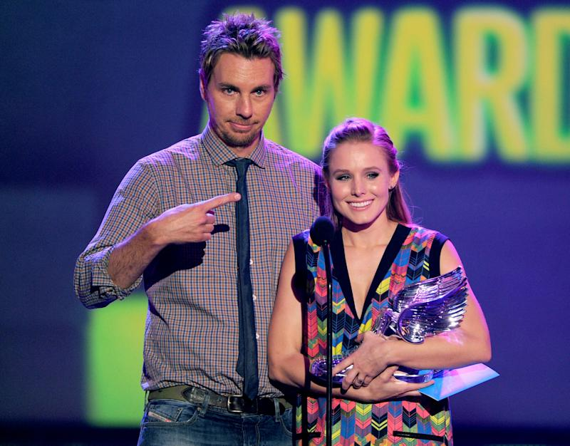 Kristen Bell Dax Shepard 13 year relationship pictured in 2012.