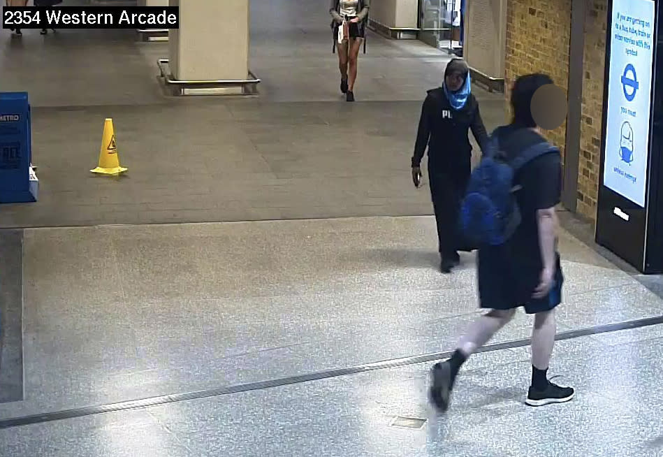 The young girl is said to have left Euston Station in the direction of Eversholt Street (GMP press office)