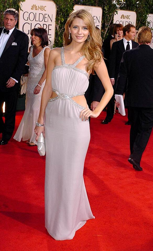 "Although she prefers the hobo-chic look in real life, Mischa Barton channeled classic Hollywood in this gorgeous gray number from 2005. Steve Granitz/<a href=""http://www.wireimage.com"" target=""new"">WireImage.com</a> - January 16, 2005"