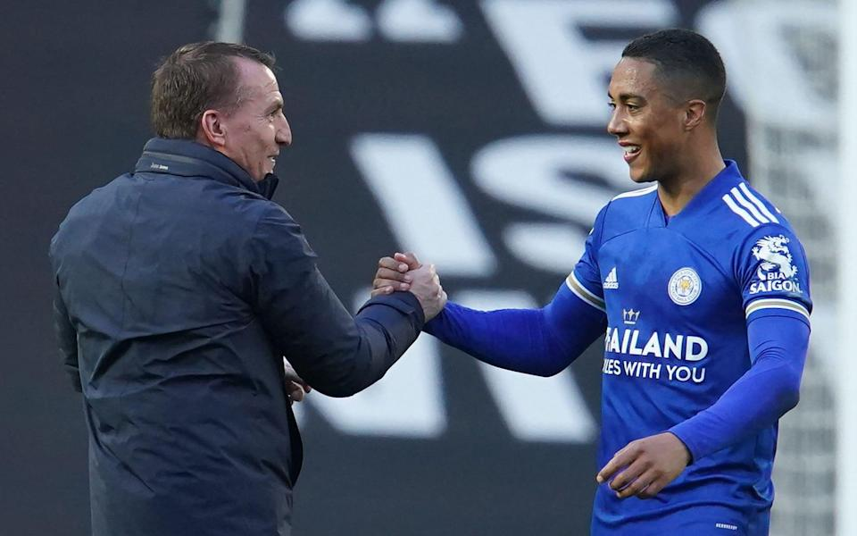 Brendan Rodgers and Youri Tielemans - AFP