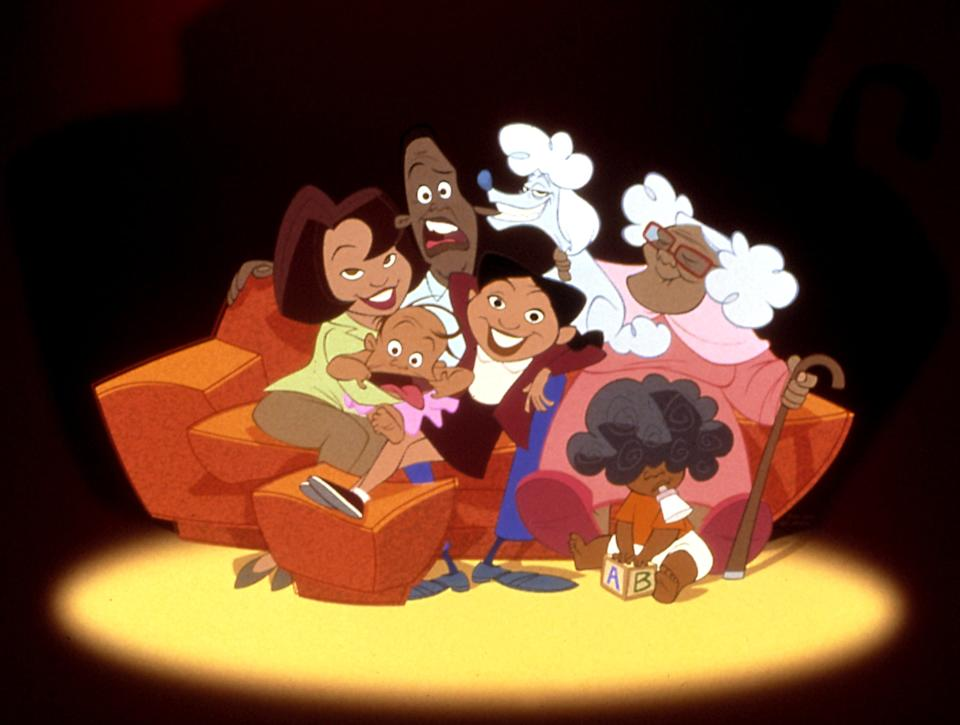 THE PROUD FAMILY, Trudy Proud, Oscar Proud, Penny Proud, Grandma Suga Mama, 2001-present, (c)The Disney Channel/courtesy Everett Collection