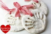"<p>Salt dough couldn't be simpler to make with ordinary kitchen ingredients (salt, flour and water). And a handprint ornament is a sentimental gift for loved ones — or as a keepsake to cherish forever.</p><p><em><a href=""https://www.nestofposies-blog.com/2011/11/salt-dough-handprint-ornaments/"" rel=""nofollow noopener"" target=""_blank"" data-ylk=""slk:Get the tutorial at Nest of Posies »"" class=""link rapid-noclick-resp"">Get the tutorial at Nest of Posies »</a></em><br></p><p><strong>RELATED</strong>: <a href=""https://www.goodhousekeeping.com/holidays/christmas-ideas/g29565759/best-salt-dough-ornaments/"" rel=""nofollow noopener"" target=""_blank"" data-ylk=""slk:15 Best Salt Dough Ornaments to DIY"" class=""link rapid-noclick-resp"">15 Best Salt Dough Ornaments to DIY</a><br></p>"