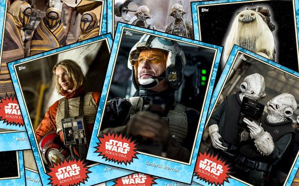 "As the release date for Rogue One draws closer, new images from the first Star Wars film continue to be released. This new crop of photos, debuting just days after the new trailer, gives us a look at some of the more curious background characters that will populate the film. They arrive courtesy of these digital cards from Topps' Star Wars: Card Trader, a preview of their first ""base card"" set for the film (the type cards that are guaranteed in each new pack)."