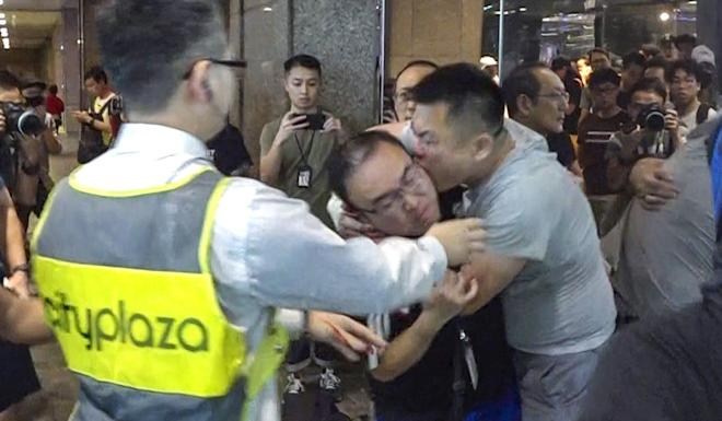 District councillor Andrew Chiu had part of his ear bitten off. Photo: Handout