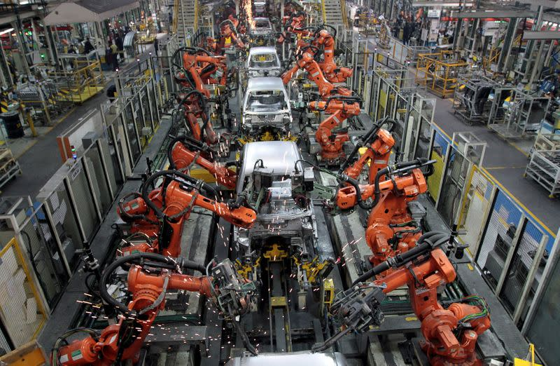 FILE PHOTO: Ford cars are assembled at a plant of Ford India in Chengalpattu, on the outskirts of Chennai
