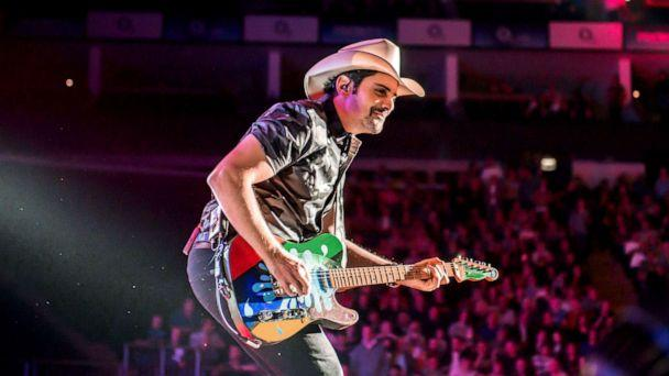 PHOTO: Brad Paisley performs on stage in London Oct. 12, 2019. (Redferns via Getty Images, FILE)