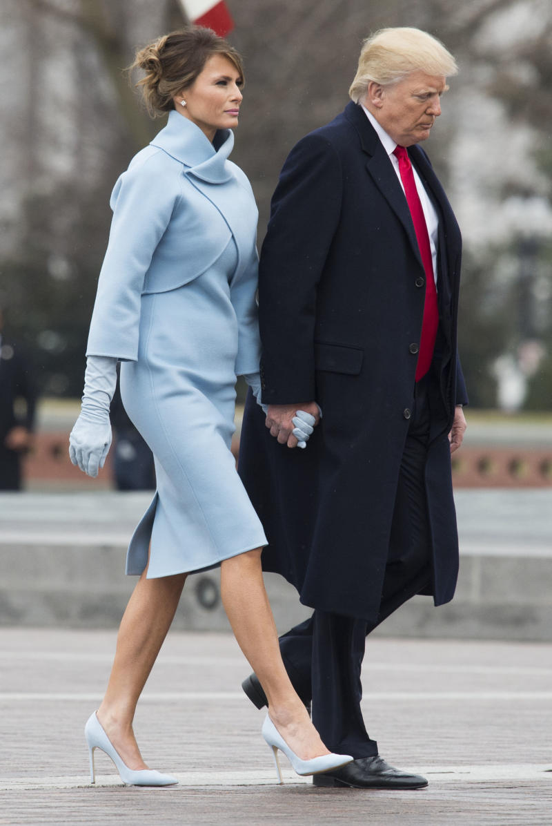 Donald and Melania Trump at the inauguration on Jan. 20, 2017. (Pool via Getty Images)