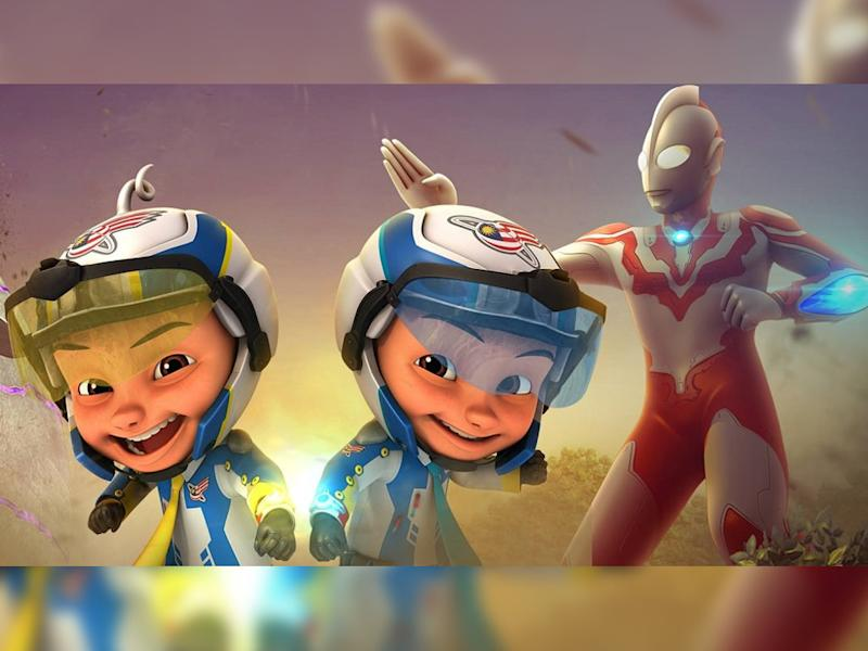 """A special episode of """"Upin Ipin"""" that features Ultraman Ribut."""