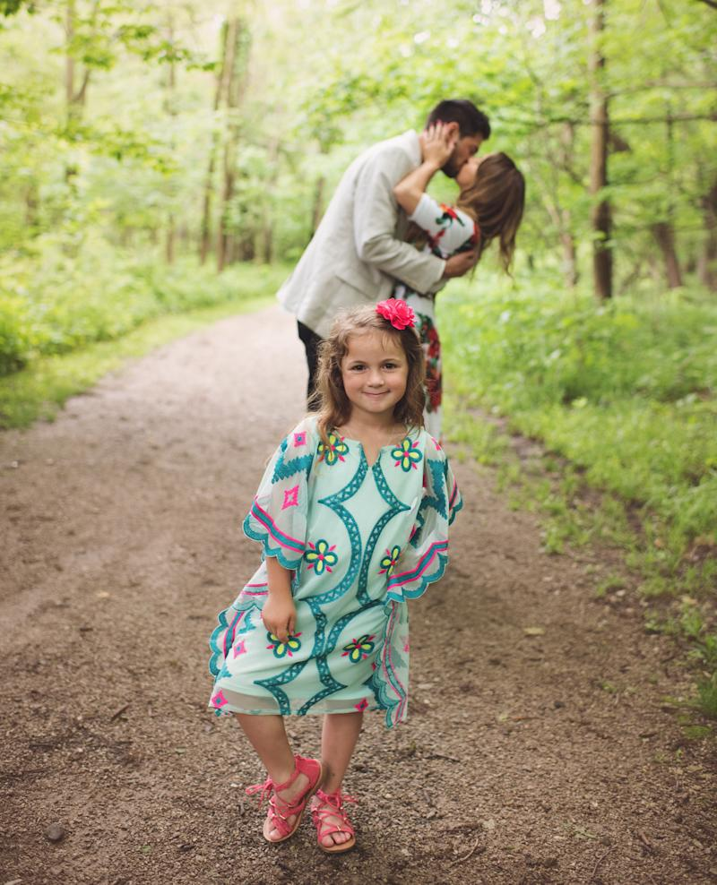 Grant proposed twice that day -- once to his girlfriend and again to her five-year-old daughter.  (Mandi Gilliland Photography)