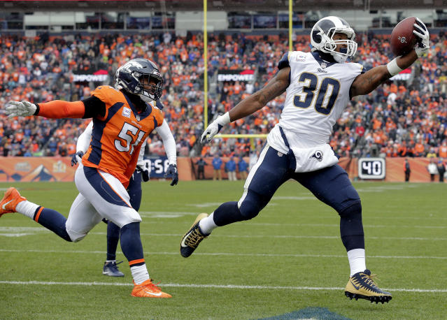 Todd Gurley could not be stopped in Week 6. (AP Photo/Joe Mahoney)