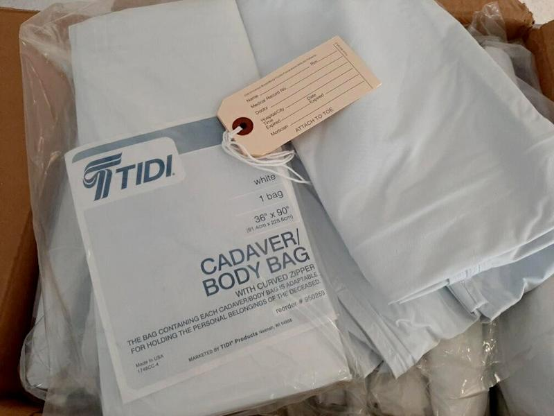 Image: A box of body bags received by the Seattle Indian Health Board. (Seattle Indian Health Board)