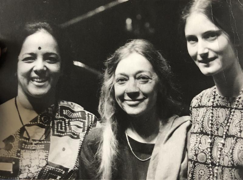 Lakshmi Shankar (left), Jan Steward and Paula Rao in the late 1960s.