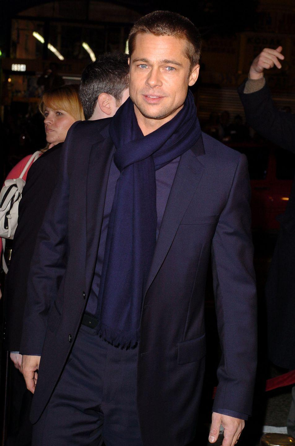<p>Pitt starred in two blockbusters, Troy and Ocean's 12, the year he turned 40. He also started filming Mr. and Mrs. Smith, the movie on which he met Angelina Jolie. </p>