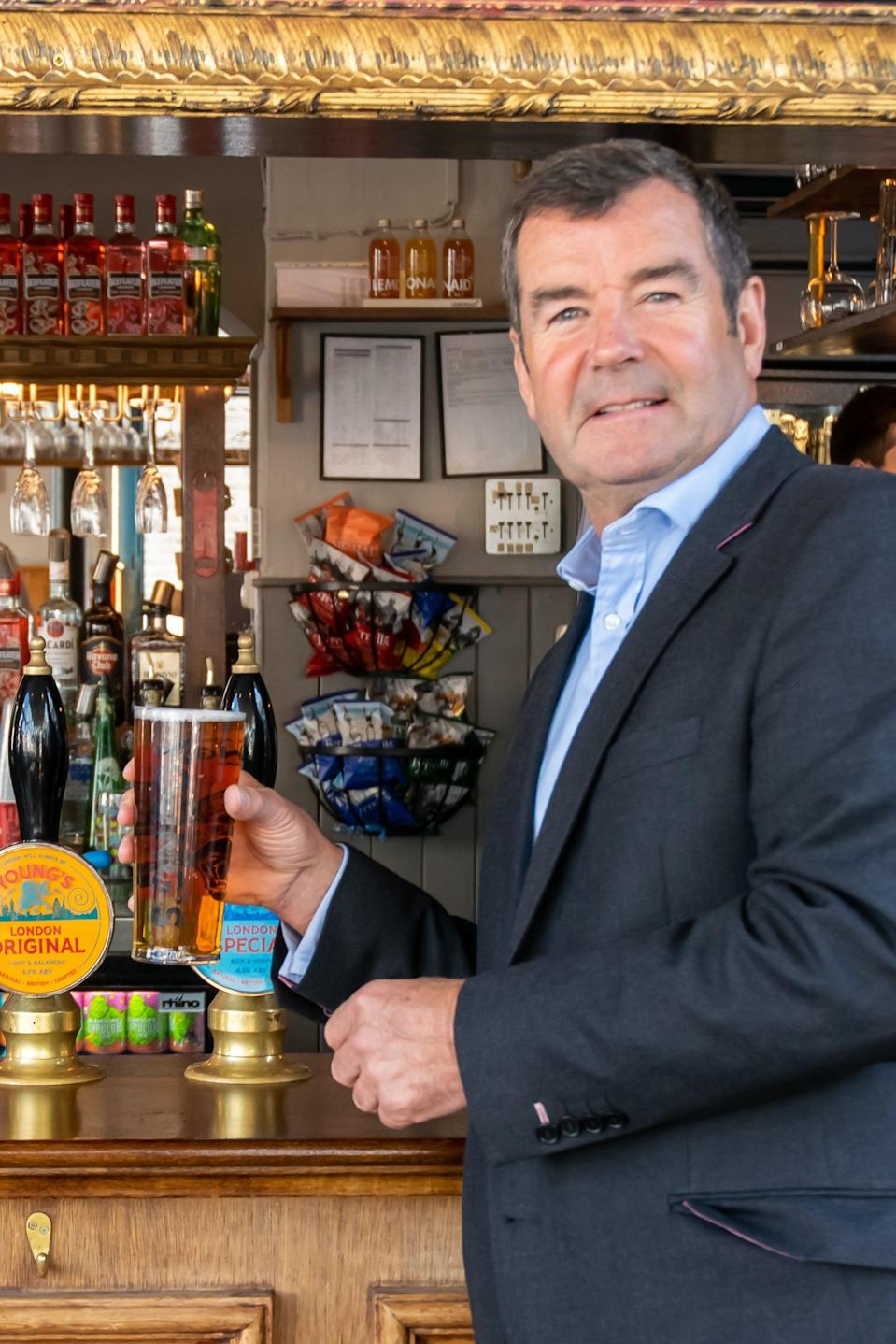 """Young's chief executive, Patrick Dardis, said:  """"You can see there is a buzz in London""""Young's"""