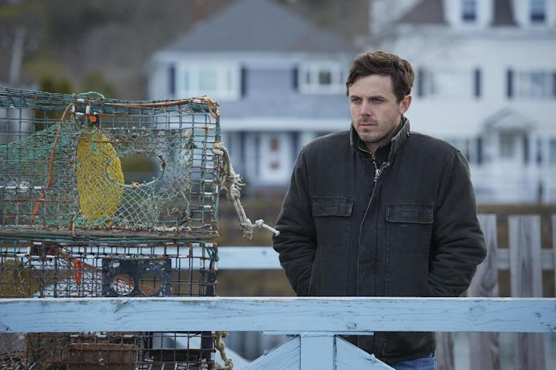 "This image released by Roadside Attractions and Amazon Studios shows Casey Affleck in a scene from ""Manchester By The Sea."" The film has been named best film by the National Board of Review, which lavished four awards on Kenneth Lonergan's New England portrait of grief. In awards announced Tuesday by the National Board of Review, ""Manchester by the Sea"" also took best actor for Casey Affleck's lead performance, best screenplay for Lonergan's script and best supporting actor for the breakout performance by Lucas Hedges. (Claire Folger/Roadside Attractions and Amazon Studios via AP)"