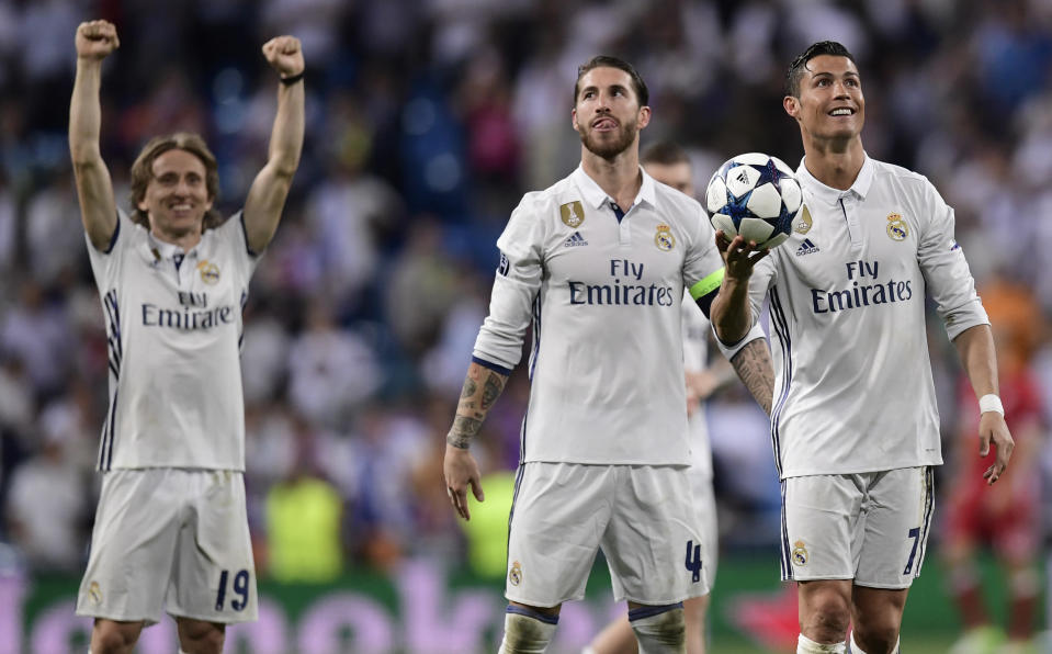 Real Madrid beat Bayern Munich last year in the Champions League semifinals. (Getty)