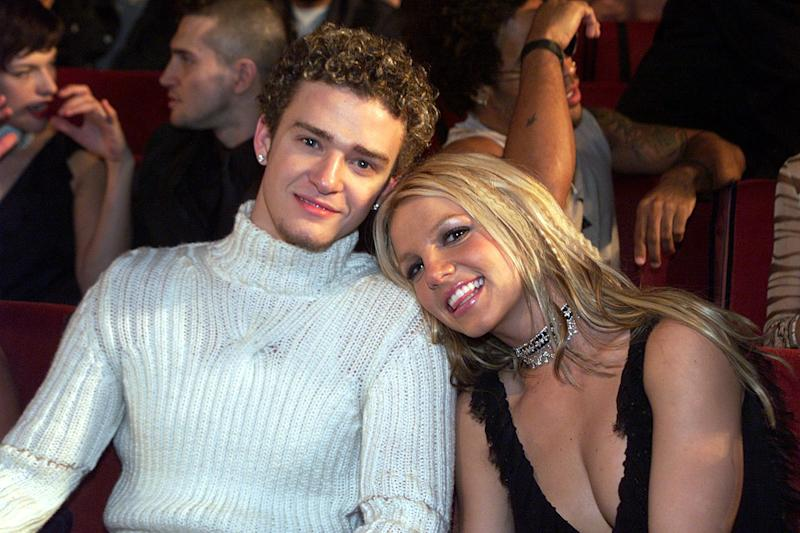 Britney Spears and Justin Timberlake (Photo by Kevin Mazur/WireImage)