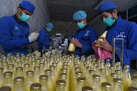 The Milko factory in Afghanistan's Kandahar province has to tread a careful line with both the Taliban and government officials