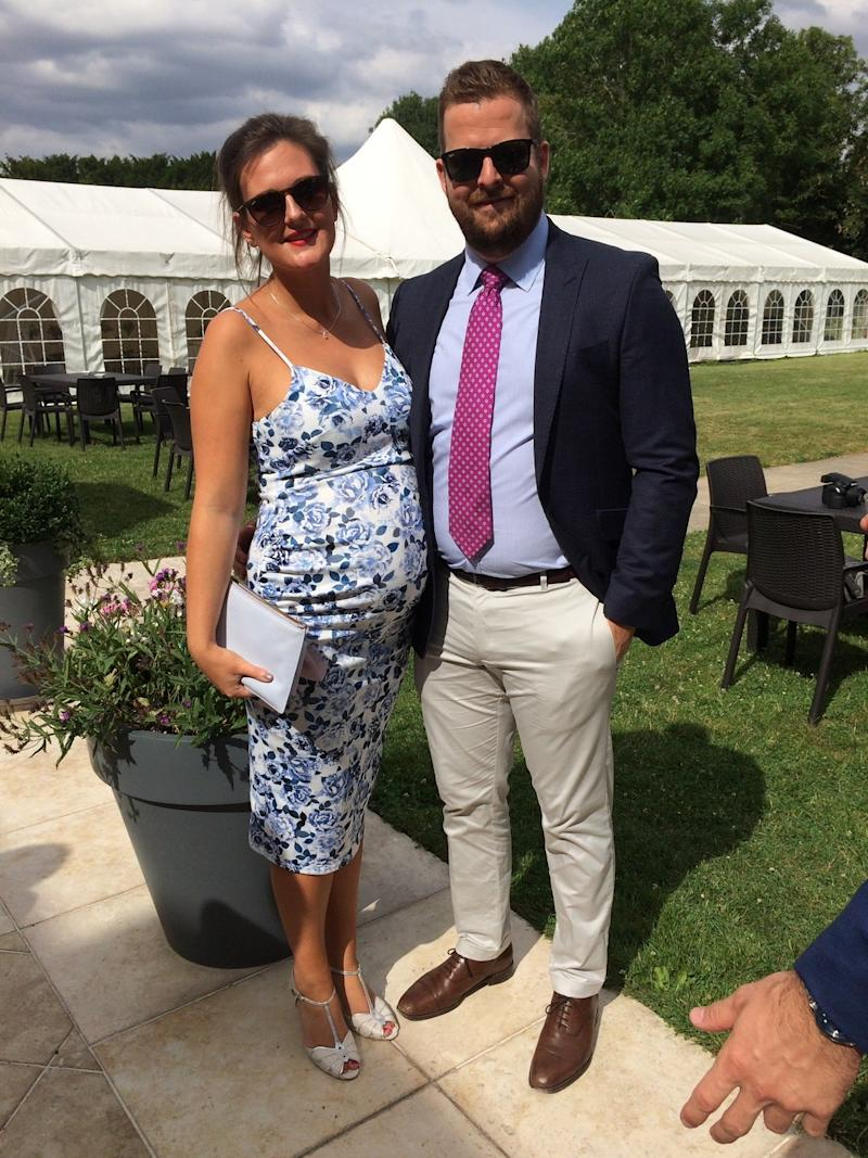 Alice pictured pregnant with VeraAlice and Dave Bailey