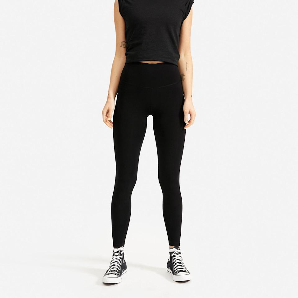 """<p><strong>everlane</strong></p><p>everlane.com</p><p><strong>$58.00</strong></p><p><a href=""""https://go.redirectingat.com?id=74968X1596630&url=https%3A%2F%2Fwww.everlane.com%2Fproducts%2Fwomens-perform-legging-black&sref=https%3A%2F%2Fwww.womenshealthmag.com%2Ffitness%2Fg19820093%2Fbest-summer-workout-gear%2F"""" rel=""""nofollow noopener"""" target=""""_blank"""" data-ylk=""""slk:Shop Now"""" class=""""link rapid-noclick-resp"""">Shop Now</a></p><p>Everlane now makes leggings! Not just <em>any</em> leggings, though. These are *so* silky-smooth and light, you'll probably forget your wearing them. They made from a performance fabric that's moisture-wicking with lightweight compression. The real deal? They're made with 58-percent recycled nylon. </p>"""