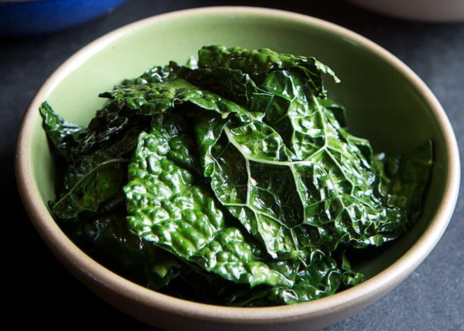 """Sesame oil will become bitter if it gets too hot, so cook over gentle heat. <a href=""""https://www.bonappetit.com/recipe/tuscan-kale-with-sesame-oil?mbid=synd_yahoo_rss"""" rel=""""nofollow noopener"""" target=""""_blank"""" data-ylk=""""slk:See recipe."""" class=""""link rapid-noclick-resp"""">See recipe.</a>"""