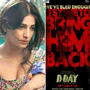 Shruti Haasan: 'My D-Day character is layered and intense'