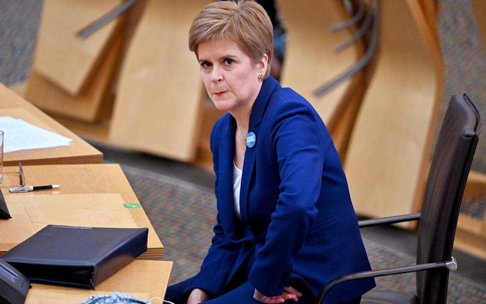 The First Minister will seek approval from opposition MSPs on Tuesday - Pool/REUTERS