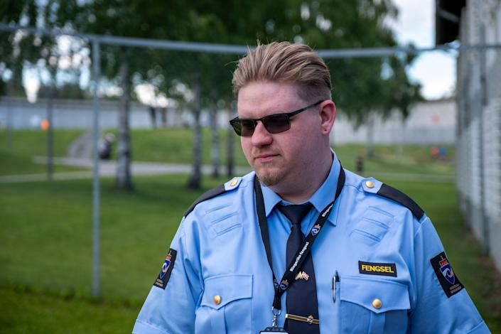 Matthew Tompkins found working at Ringerike changed the way he saw his job as a correctional officer. (Photo: SVT/John Stark)