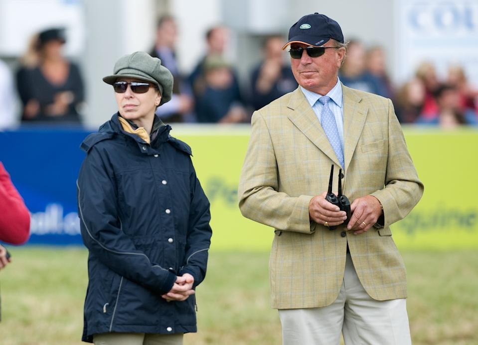 STROUD, UNITED KINGDOM - AUGUST 07:  Princess Anne, Princess Royal and Captain Mark Phillips attend day 3 of The Festival of British Eventing at Gatcombe Park on August 7, 2011 in Stroud, England. (Photo by Samir Hussein/Getty Images)