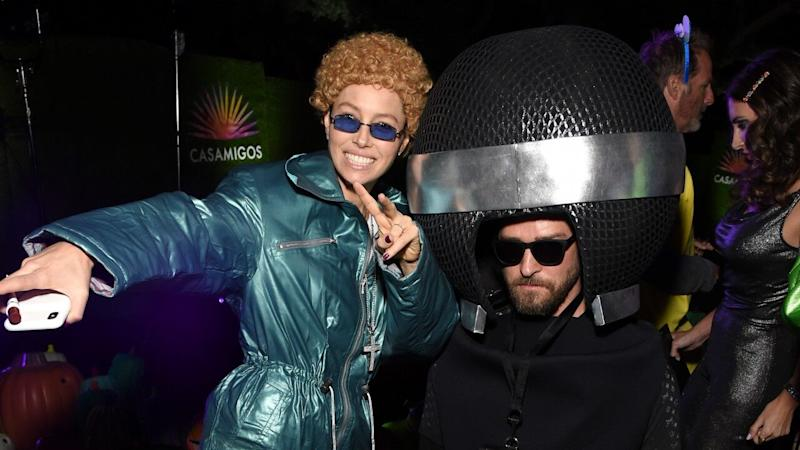 Jessica Biel Dressed as Husband Justin Timberlake for Halloween Is the Greatest Costume Ever -- Pics