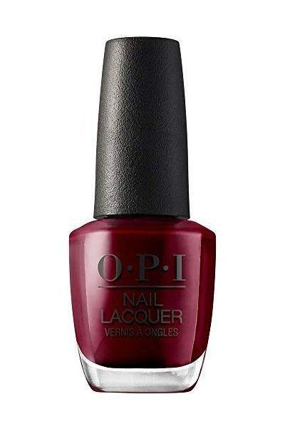 """<p><strong>OPI</strong></p><p>amazon.com</p><p><strong>$10.50</strong></p><p><a href=""""https://www.amazon.com/dp/B00421YYXW?tag=syn-yahoo-20&ascsubtag=%5Bartid%7C10058.g.3965%5Bsrc%7Cyahoo-us"""" rel=""""nofollow noopener"""" target=""""_blank"""" data-ylk=""""slk:SHOP IT"""" class=""""link rapid-noclick-resp"""">SHOP IT</a></p><p>We're declaring this witchy wine color the official red of the season. Kind of makes you want to howl at the harvest moon, no? </p>"""
