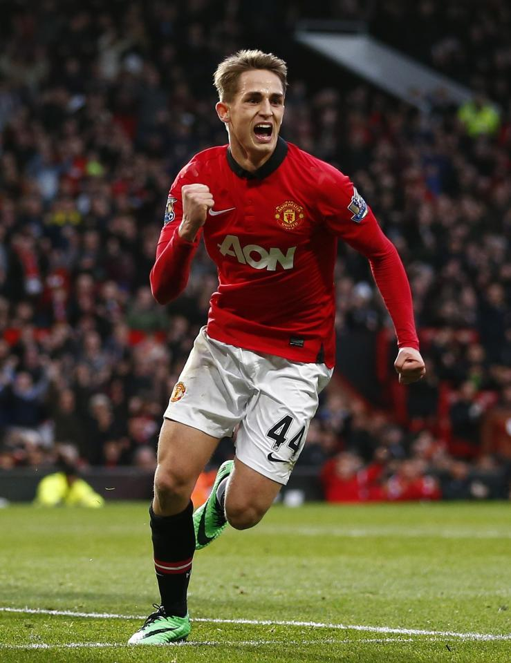"""Manchester United's Adnan Januzaj celebrates after scoring a goal against West Ham during their English Premier League soccer match at Old Trafford in Manchester, northern England, December 21, 2013. REUTERS/Darren Staples (BRITAIN - Tags: SPORT SOCCER) FOR EDITORIAL USE ONLY. NOT FOR SALE FOR MARKETING OR ADVERTISING CAMPAIGNS. NO USE WITH UNAUTHORIZED AUDIO, VIDEO, DATA, FIXTURE LISTS, CLUB/LEAGUE LOGOS OR """"LIVE"""" SERVICES. ONLINE IN-MATCH USE LIMITED TO 45 IMAGES, NO VIDEO EMULATION. NO USE IN BETTING, GAMES OR SINGLE CLUB/LEAGUE/PLAYER PUBLICATIONS"""