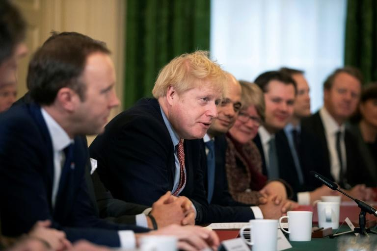 Johnson chaired his first cabinet meeting since last week's crushing election victory (AFP Photo/Matt Dunham)