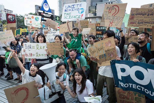 PHOTO: Participants gather at United Nations University prior to Global Climate Strike on September 20, 2019, in Tokyo, Japan. (Yuichi Yamazaki/Getty Images)